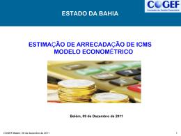 14a reuniao – Modelo Econometrico Bahia