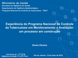 Ações de Monitoramento e Avaliação no PNCT