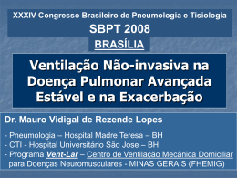 Ventilação Não invasiva na doença pulmonar avançada estavel e