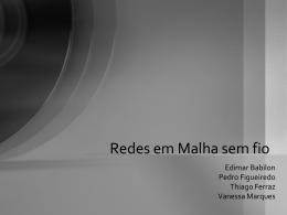 Redes em Malha sem fio
