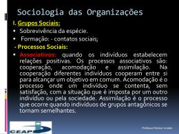 I. Grupos Sociais