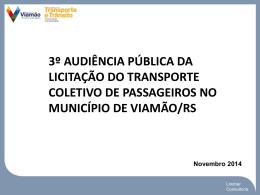 3º Audiência de Rede Transporte Viamão