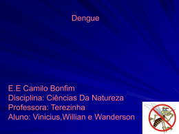 Dengue- apresentacao- Viniciusw e willian wanderson