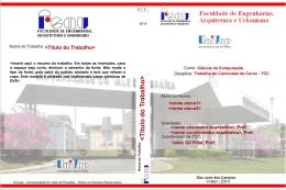 Modelo da capa tipo DVD para a versão final do TCC-II