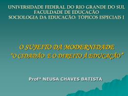 DIREITO À EDUCAÇÃO - Prof. Neusa Aulas