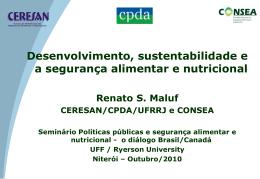 Desenvolvimento, Sustentabilidade e a Segurança - R1