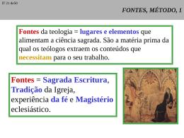 Fontes - Curso de Teologia