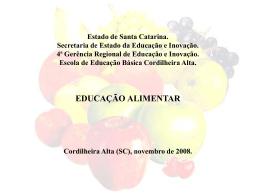 projeto nte alimentação SLIDES Prof.Dines