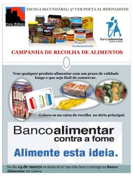 Banco Alimentar - 3º CEB Poeta Al Berto
