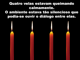 as velas dentro da gente