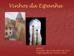 Reuniao Amavi 100729 – VINHOS DA ESPANHA
