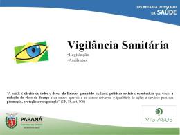 PGVS Vigilância Sanitária - Escola de Saúde Pública do Paraná