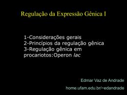 Regulação da Expressão Gênica em Organismos Procarióticos