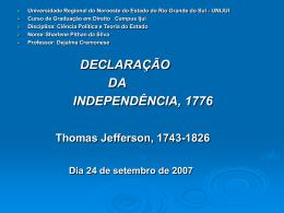 A Declaração da Independência, 1776