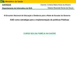 DATASUS Departamento de Informática do SUS