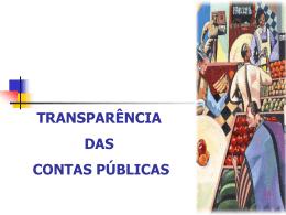 Transparência das Contas Públicas.