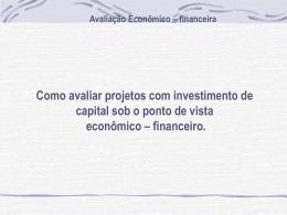 Power Point - Avaliação Econômica Financeira