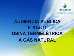 objetivo da audiência - Eletrobras Amazonas Energia