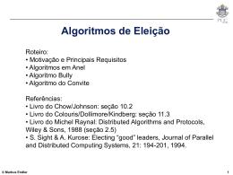 Algoritmos de Eleição - PUC-Rio