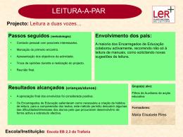 Escola EB 2,3 da Trafaria - Plano Nacional de Leitura