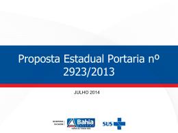 Proposta Estadual CRL CL Portaria 2923.2013