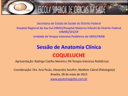 Sessão de Anatomia Clínica: Coqueluche