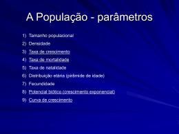 A População - parâmetros