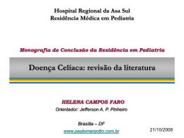 Monografia-2008(APRESENTAÇÃO): Doença Celíaca