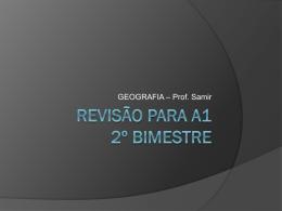 Revisão para A1 2º bimestre