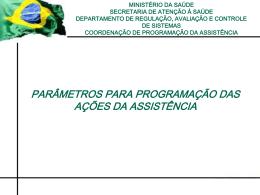ParametrosSES - Secretaria de Estado da Saúde