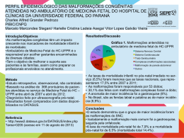 perfil epidemiológico das malformações - PRPPG