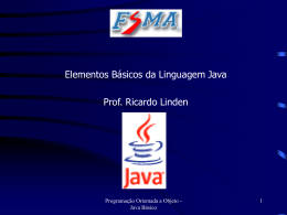 Elementos básicos da linguagem Java