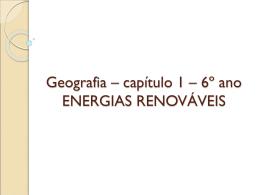 Energias renovaveis 6 ano