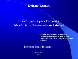 COMUNICA  AO DE DADOS - Universidade Federal do Paraná