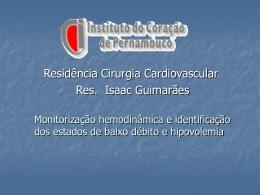 Monitorização hemodinamica