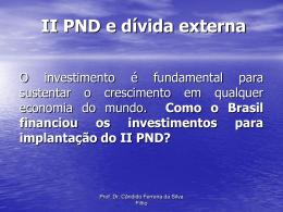 II PND e dívida externa