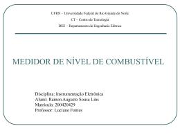 trabalho instrum3 - DEE - Departamento de Engenharia Elétrica