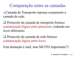 "Camada de Transporte - RDT ""x.x"""