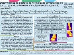 Determinação de padrões de normalidade termográfica de
