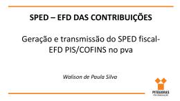 sped – efd das contribuições