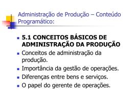 Aula 1B1 - Conteúdo Programático