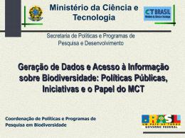 INICIATIVAS DO MCT