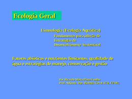 Apresentação do PowerPoint - Ecologia e Gestão Ambiental