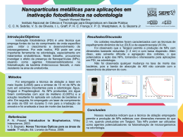 Nanopartículas metálicas para aplicações em inativação