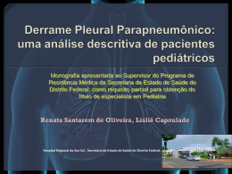 Derrame Pleural Parapneumônico