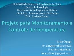 Termômetro - DEE - Departamento de Engenharia Elétrica