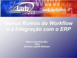 Novos Rumos do Workflow e a Integração com o ERP Maria Luiza
