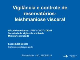 Vigilância e controle de reservatórios Leishmaniose Visceral