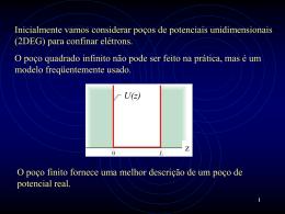 Confinamento Quântico Unidimensional - Gás
