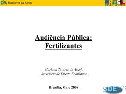 1. Mercado Brasileiro de Fertilizantes